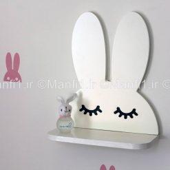شلف دیواری مدل خرگوش چوبی
